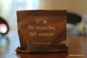 Words to Sweat by cookies snack bag