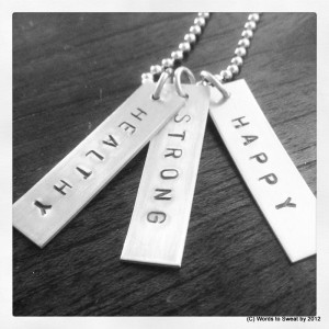 Words to Sweat by motivational mantra jewlery