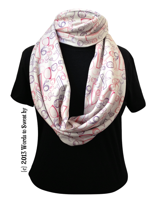 I'm No Slouch™ Organic Cotton Infinity Scarf - Running Motif