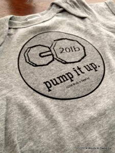Humorous Fitness Apparel - Pump It Up with dumbbell