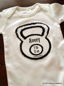Custom kettlebell baby or toddler shirt